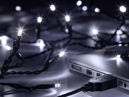 USB-s beltéri fényfüzér, 80 LED, hidegfehér, 840 cm, Polarlite LLC-06-003