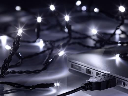 USB-s beltéri LED-es fényfüzér, 40 LED, 3,9 m/4,4 m, hidegfehér, Polarlite LLC-06-004