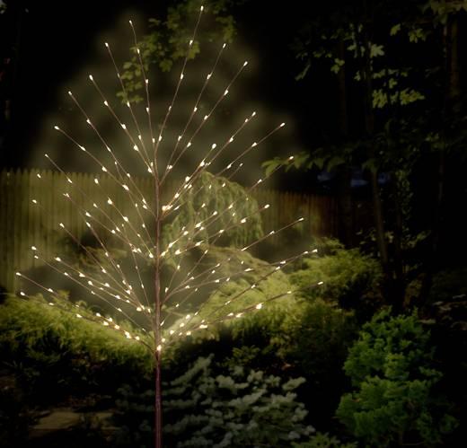 LED-es dekorációs fa, barna, Polarlite PCA-03-001