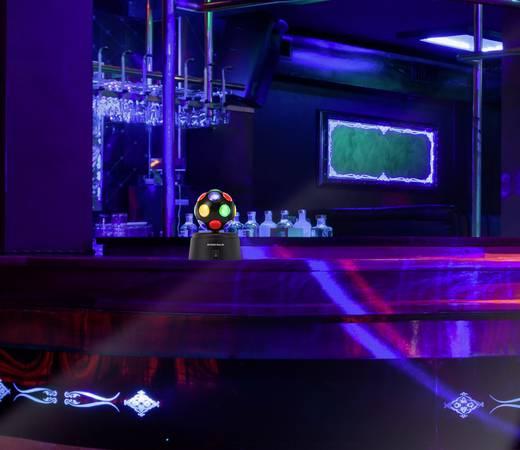 LED Parti fényeffekt Basetech LED-DISCOBALL Multi-color