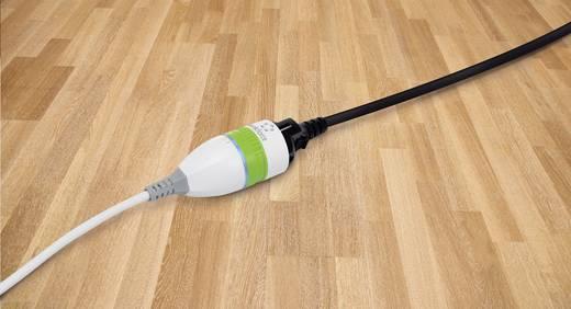Hálózati hosszabbító kábel, kapcsolós, világítós, 3 m, fehér/zöld, renkforce