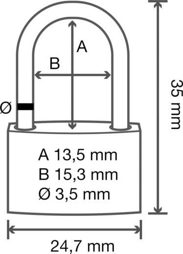 Sárgaréz függő lakat 24.5 mm, Basetech