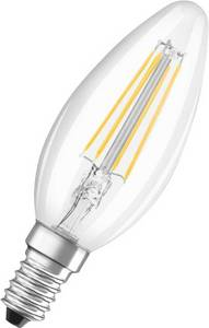 OSRAM LED E14 Gyertya forma 4 W = 37 W Melegfehér (Ø x H) 35 mm x 99 mm EEK: A++ Filament 1 db (4052899941564) OSRAM