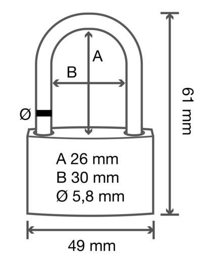 Sárgaréz függő lakat, 49 mm, Basetech