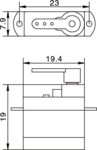 3G analóg szervo S0003 Reely