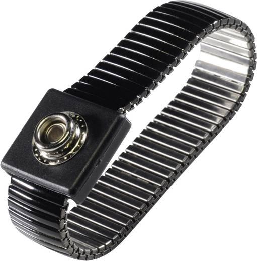 ESD csuklópánt földelő kábellel, fekete, Tru Components WristME-SET-4-305-K