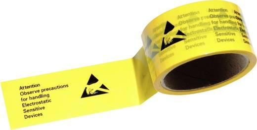 ESD ragasztószalag 1 tekercs, sárga/fekete, 50 m x 4,8 cm, Conrad ESDBA-Y-50M
