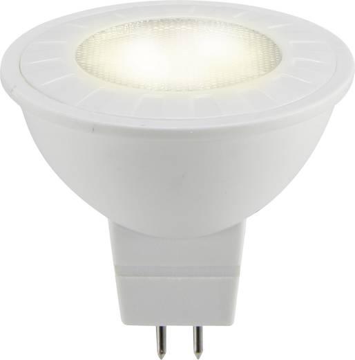 LED izzó, reflektoros, 47 mm 12 V GU5.3 5 W = 20 W melegfehér A++, sygonix