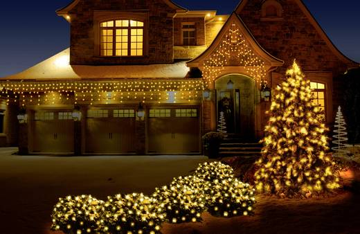 Kültéri LED-es fényháló, 200 db LED, 2 x 3 m, 31V, hidegfehér/melegfehér, Polarlite