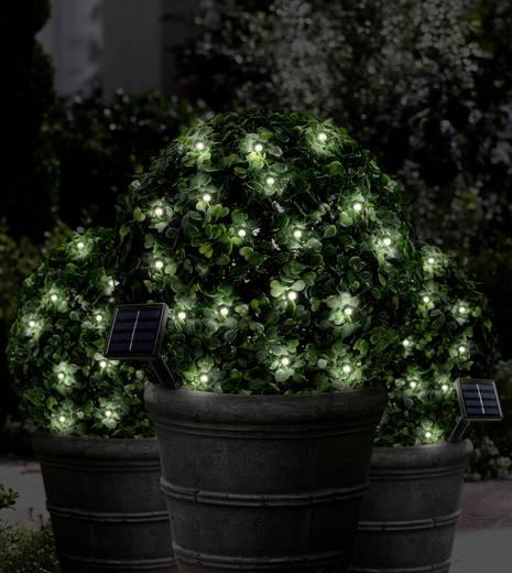 Napelemes LED-es kültéri fényfüzér, akkus, 40 LED, melegfehér, 8,9 m, Polarlite PSL-03-001