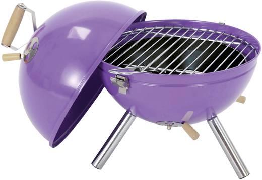 Faszenes grillsütő, asztali gömbgrill 290mm lila színű tepro Crystal 1097