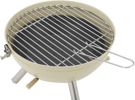 Faszenes grillsütő, asztali gömbgrill 290mm vanília színű tepro Crystal 1108