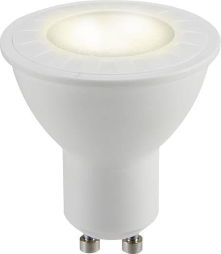 LED izzó, reflektoros, 54 mm 230 V GU10 4,8 W = 50 W melegfehér A+, sygonix