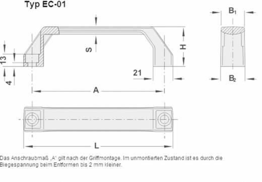 Rohde Műanyag fogantyú, Economy Plus EC EC-01.140.84 (H x Sz) 158 mm x 26 mm poliamid/fekete