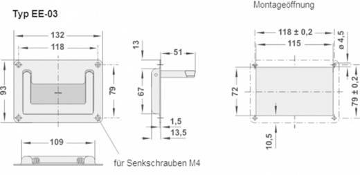 Rohde Kihajtható fogantyú, EE EE-03.118.33 (H x Sz) 132 mm x 93 mm Nemesacél Ezüst (kefélt)