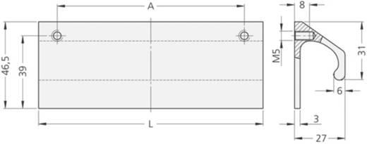 Rohde Párkány fogantyú, LF LF-02.100.01 (H x Sz) 120 mm x 46.5 mm Alumínium Ezüst