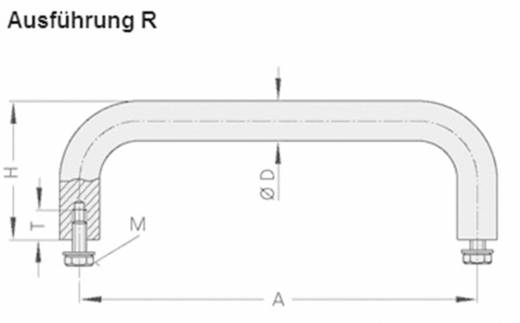Rohde Nemesacél fogantyú, VA VA-10.R120.31 (H x Sz) 128 mm x 10 mm Nemesacél Ezüst