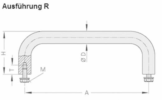 Rohde Nemesacél fogantyú, VA VA-10.R180.31 (H x Sz) 188 mm x 10 mm Nemesacél Ezüst