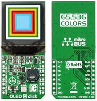 MikroElektronika OLED C click mikroBUS™ Kijelzőmodul 2.8 cm (1.1 coll) MikroElektronika
