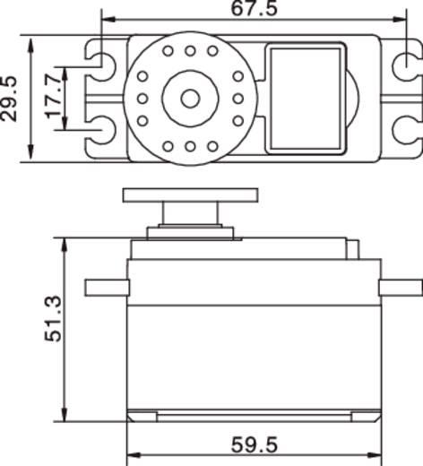 30 KG digitális szervo DS8203 MG Reely S8203A