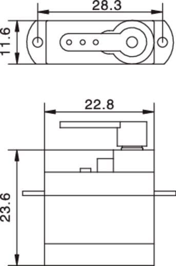 8G analóg szervo S20008 Reely