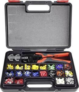 Racsnis krimpelő fogó készlet, kábelsaru, érvéghüvely préselő fogó készlet 439 részes  Toolcraft 1365635 TOOLCRAFT