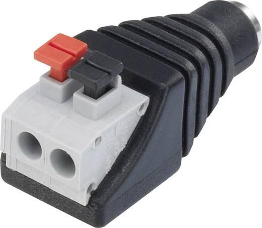 Kisfeszültségű csatlakozó alj, egyenes 5.5 mm 5.5 mm 2.1 mm Tru Components QT-DC2.1F