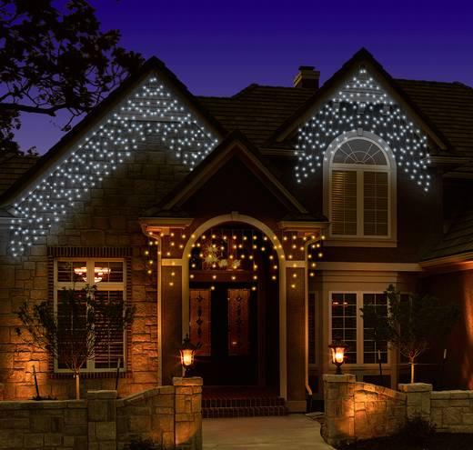 Kültéri fényháló, hidegfehér/melegfehér, 31 V 80 LED, 100 x 100 cm, Polarlite