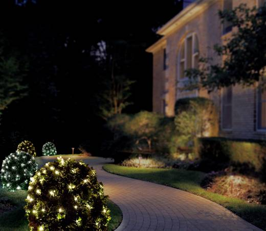 Kültéri fényháló, hidegfehér/melegfehér, 31 V 200 LED, 300 x 300 cm, Polarlite