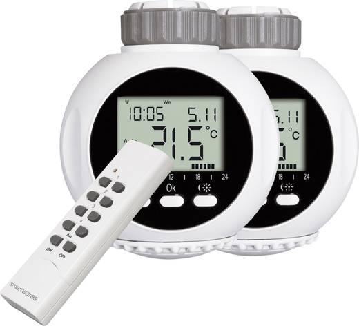 Vezeték nélküli fűtőtest termosztát, 2 részes készlet, HomeWizard Smartwares SHS-530002-EU 10.900.43