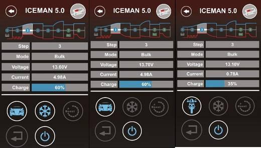 Automata autó akkumulátor töltő, bluetooth funkcióval, Smart készülékekhez 12 V 0.8 A/5 A Voltcraft VC12V ICEMAN 5R