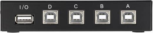 4 portos mechanikus USB 2.0 átkapcsoló, Renkforce
