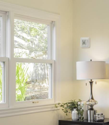 Digitális helyiség termosztát távérzékelővel és érintőképernyővel, napi programmal, 5…45 °C, Renkforce MH-3202