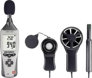 Környezetvédelmi mérőműszer légsebesség, fénymérő, zajszintmérő, hőmérő, nedvességmérő 5 az 1-ben műszer Voltcraft UM5/1 VOLTCRAFT