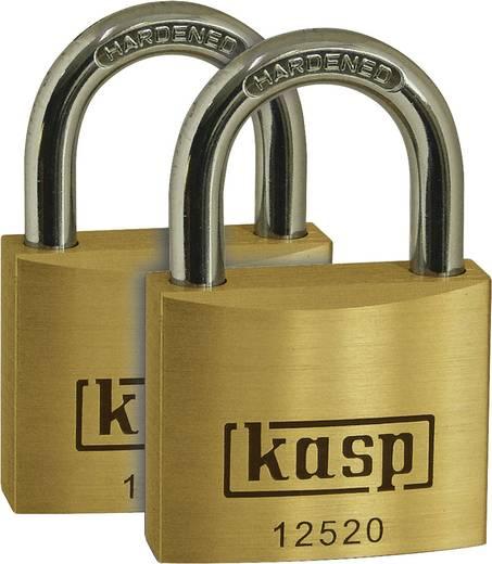 Sárgaréz lakatkészlet, 2db 20mm-es Kasp K12520C2