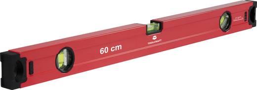 Vízmérték Libella-pontosság 0.5 mm/m Hossz 60 cm, TOOLCRAFT 1370256