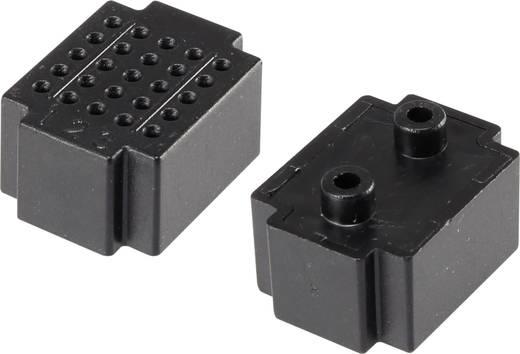 Dugaszolós próba panel, fekete, 25 pólus, 20 x 15 mm Tru Components