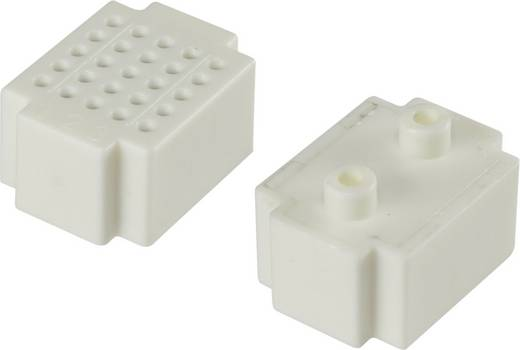 Dugaszolós próba panel, fehér, 25 pólus, 20 x 15 mm Tru Components
