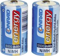 Baby akku C NiMH, 1,2V 5500 mAh, 2 db, Conrad Energy LR14, LR15, C, AM2, MN1400, 814, E93, LR14N, UM2 (1371332) Conrad energy