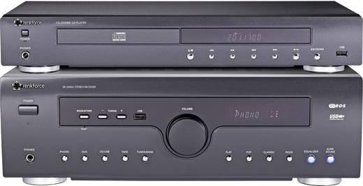 Renkforce SR-2000U sztereo vevő + Renkforce CD-2000ME CD lejátszó