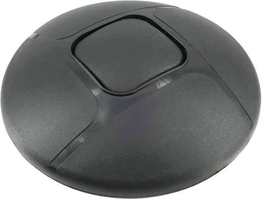 Vezetékbe iktatható zsinórkapcsoló, 1 x ki/be 2A, fekete, Conrad 777-BK