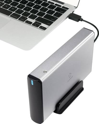 """SATA merevlemez ház 3,5"""" ezüst, renkforce HDA301J3P USB 3.0"""