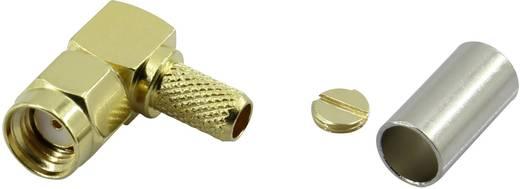 Krimpelhető, lengő SMA dugó, hajlított 50 Ω Tru Components SMA-JWC-RG58