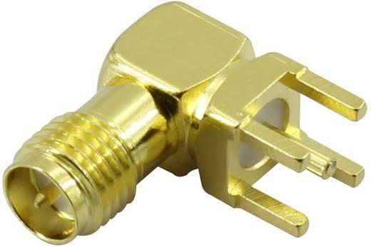 Krimpelhető, beépíthető SMA alj, vízszintes 50 Ω Tru Components SMA-50KWE
