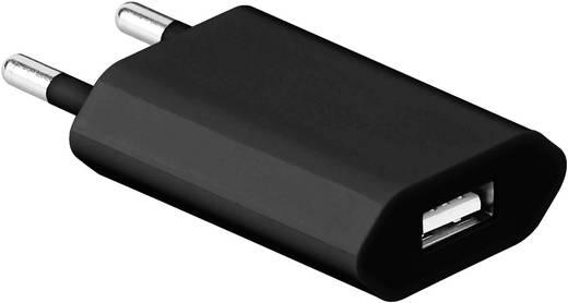 Hálózati USB töltő adapter 115-230V/AC 1000mA fekete színű Goobay 43749