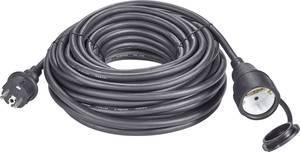 Kültéri, gumi hálózati hosszabbítókábel védőkupakkal, fekete, 20 m, H07RN-F 3G 1,5 mm², Renkforce 1373173 (1373173) Renkforce