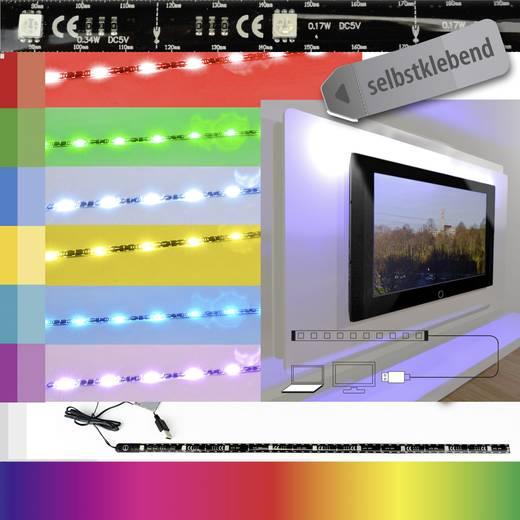 Dekorációs LED csíkok USB csatlakozóval 701444 fekete X4-LIFE