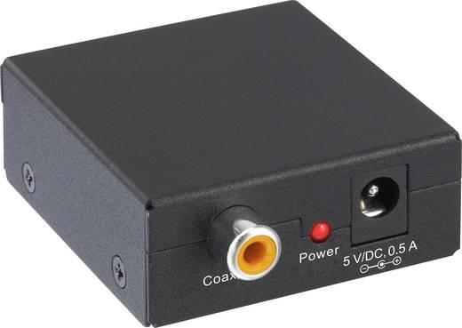 Digitális koax RCA - Optikai Toslink SPDIF jelátalakító AV konverter SpeaKa Professional SP-AC-CXTO