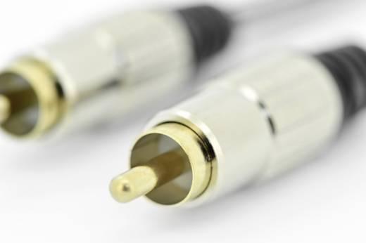 RCA audio csatlakozókábel, 1 x RCA dugó - 1x RCA dugó, 5 m, fekete, ednet