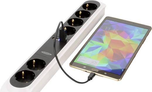 USB adatkábel kártyaolvasóval (USB 2.0 A dugó SD kártyanyílással - Micro USB dugó) 0.30m fekete ednet 31517